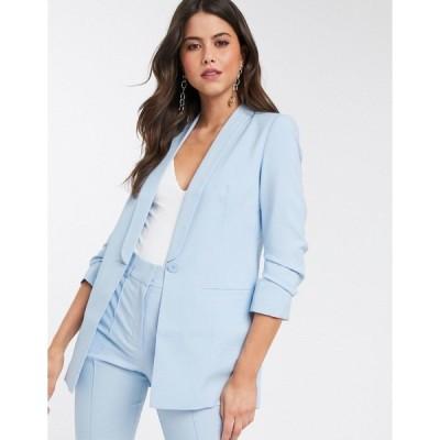 エイソス レディース ジャケット&ブルゾン アウター ASOS DESIGN mix & match tailored suit blazer Light blue
