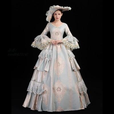 舞台服 ステージ衣装 プリンセスライン 演劇 ドレス 宮廷服ドレス 舞台衣装やステージ衣装 中世貴族風 オペラ声楽 刺繍が豪華お姫様ドレス ドレス