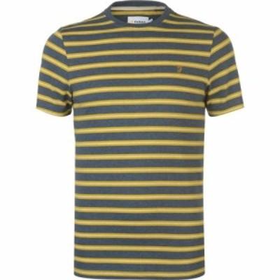 ファーラーヴィンテージ Farah Vintage メンズ Tシャツ トップス Farah House Stripe T Shirt BLUE MARL