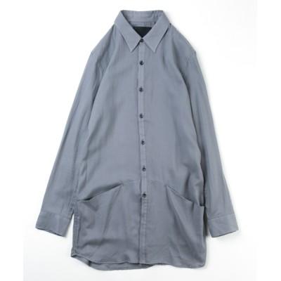 VARIOUS SHOP / 80/1 COTTON DOUBLE SATIN LONG SHIRT MEN トップス > Tシャツ/カットソー