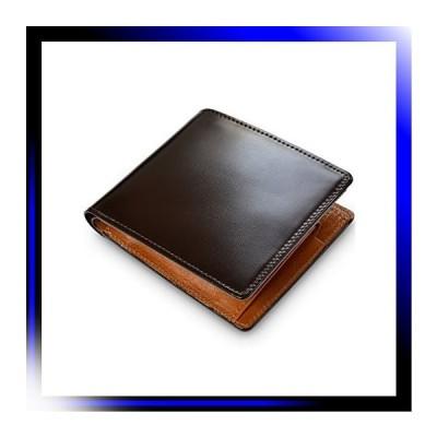 ダークブラウン タバラット 日本製 二つ折り財布 水染め コード