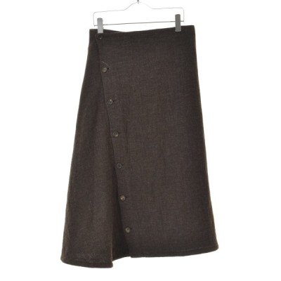 Y'S / ワイズ ウール混マキシボタン スカート