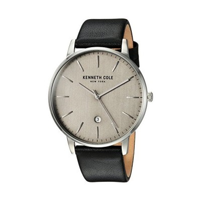 Kenneth Cole New York Men's Analog-Quartz Watch with Leather Strap KC50009001 並行輸入品