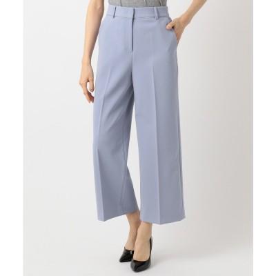 ICB 【VERY3月号掲載】Compact Double Cloth ワイド パンツ (サックスブルー系)