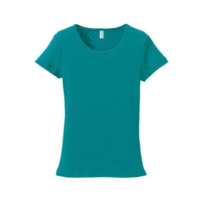Tシャツ 半袖 ガールズ レディース CVC フライス 6.2oz M サイズ アップルグリーン 無地 ユナイテッドアスレ CAB