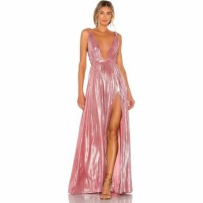 ブロンクス アンド バンコ Bronx and Banco レディース パーティードレス ワンピース・ドレス Runway Goddess Gown Metallic Rose