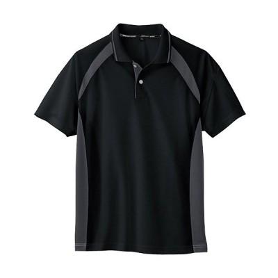 コーコス(CO-COS) ワークウェア 半袖ポロシャツ ブラック AS-1627 BLK SS-LL 作業着 作業服 ワークウェア DIY ワーキングシャツ