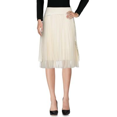 メゾン マルジェラ MAISON MARGIELA ひざ丈スカート アイボリー 40 97% ウール 3% ポリウレタン ひざ丈スカート