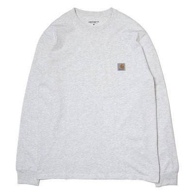 カーハート Tシャツ 長袖 ロンT CARHARTT WIP L/S Pocket T-Shirt アッシュヘザー