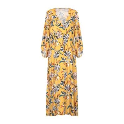 PAOLO CASALINI ロングワンピース&ドレス オークル L レーヨン 100% ロングワンピース&ドレス