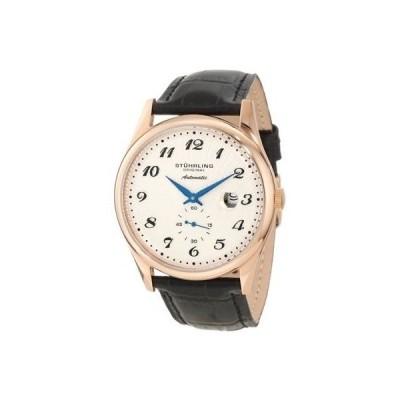 ストゥーリングオリジナル 腕時計 Stuhrling 171A 33452 メンズ クラシック Cuvette 44 スリム オートマチック Date レザー 腕時計