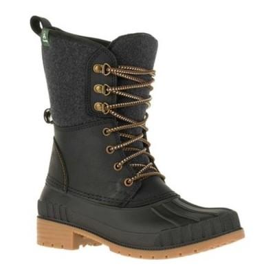 カミック ブーツ&レインブーツ シューズ レディース Sienna 2 Ankle Boot (Women's) Black Flannel/Leather
