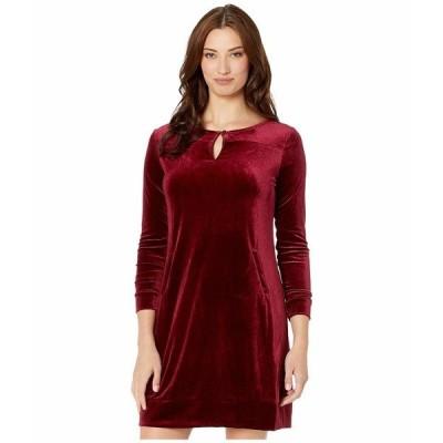 トリバル ワンピース トップス レディース Long Sleeve Dress w/ Pocket Dark Fig