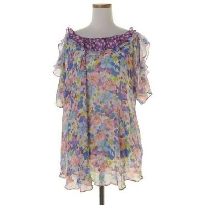 シャツ ブラウス 花柄半袖ブラウス