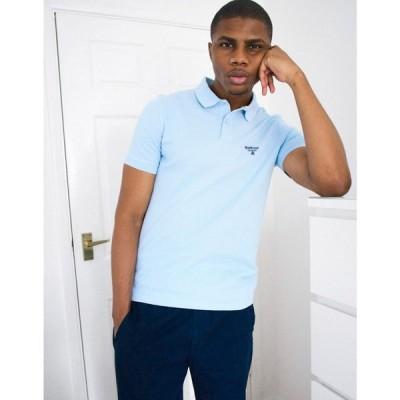 バブアー Barbour Beacon メンズ ポロシャツ トップス polo in light blue ブルー