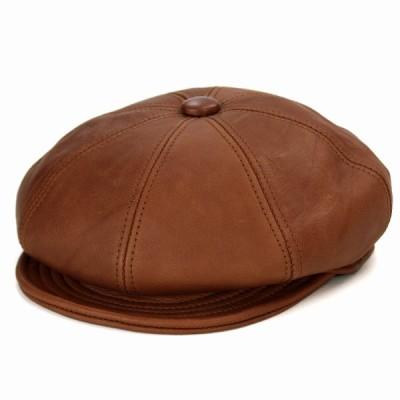 ニューヨークハット キャスケット レザー Vintage Leather Spitfire 帽子 メンズ 革 9223 ブランデーカラー Brandy