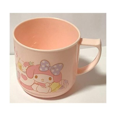 Sanrio My Melody ハンドカップ ポリプロピレン 7.2 × 7 × 3.85インチ 240ml ディナーウェア ドリンクウェ
