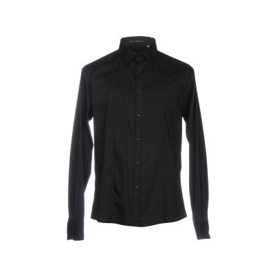 PAOLO DI MATTEO シャツ ブラック XL 72% コットン 25% ナイロン 3% ポリウレタン シャツ