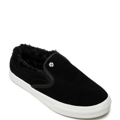 ミネトンカ レディース サンダル シューズ Women's Wilder Faux Fur Trim Sneakers Black
