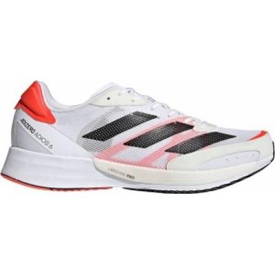 アディダス メンズ スニーカー シューズ adidas Men's Adizero Adios 6 Running Shoes White/Red