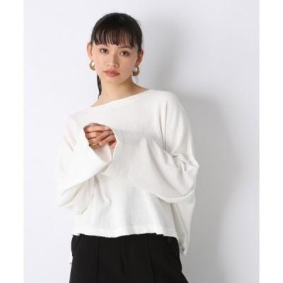 tシャツ Tシャツ ワッフルヘンリーワイドスリーブTEE/937875