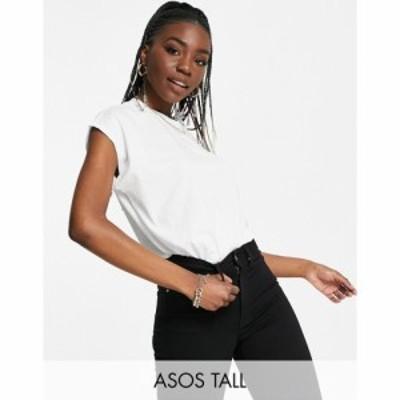 エイソス ASOS Tall レディース ノースリーブ トップス ASOS DESIGN Tall boxy sleeveless t-shirt in white ホワイト
