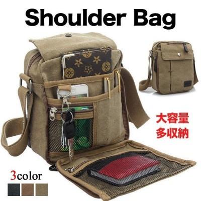 バッグ メンズ ショルダーバッグ シンプル 斜めがけ 肩がけ 多機能 コンパクト 30代 40代50代 60代 3