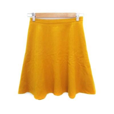 【中古】シップス SHIPS スカート フレア ひざ丈 ウール 36 黄色 イエロー /FF48 レディース 【ベクトル 古着】