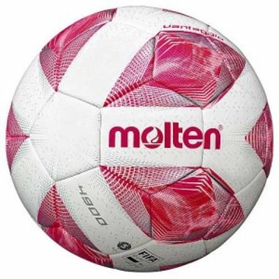モルテン サッカーボール 5号球 (人工皮革) Molten ヴァンタッジオ4900 芝用(スノーホワイトパール×ピンク) F5A4900-P【返品種別A】