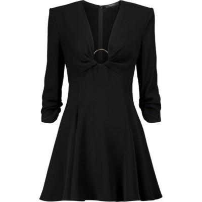 ヴェルサーチ Versace レディース パーティードレス ワンピース・ドレス embellished minidress Nero