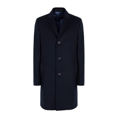 カルバン クライン CALVIN KLEIN コート ダークブルー 52 バージンウール 90% / カシミヤ 10% コート