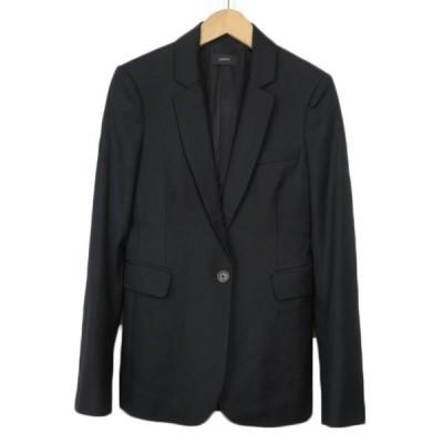 【中古】ジョセフ JOSEPH ジャケット テーラード ステッチ ウール 36 黒 ブラック レディース 【ベクトル 古着】