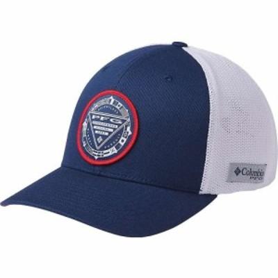 コロンビア Columbia ユニセックス キャップ 帽子 PFG Mesh Seasonal Ball Cap Carbon/White/Red Spark