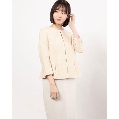 リネーム Rename 裾切り替えフレアジャケット(ライトベージュ)