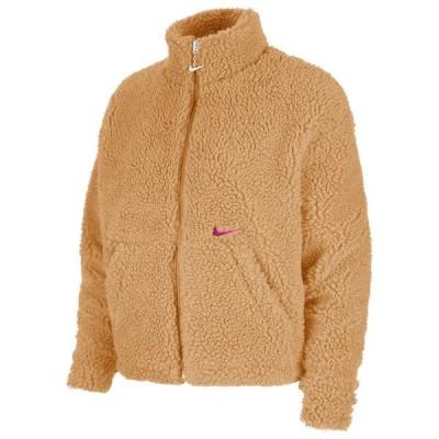 ナイキ Nike レディース ジャケット アウター NSW Swoosh Jacket Sherpa Flax/Green