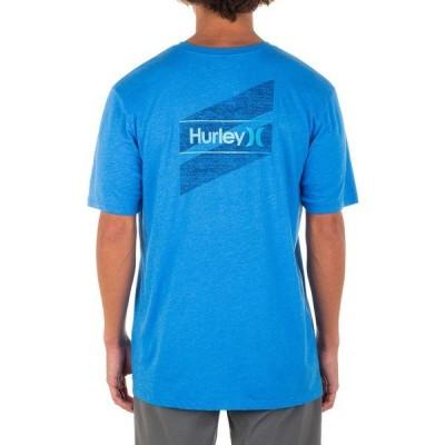 ハーレー シャツ トップス メンズ Hurley Men's One & Only Slashed Graphic T-Shirt LtPhotoBlueHtr