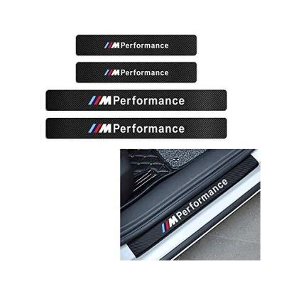 MAXDOOL 4枚セット BMW ///M パフォーマンス ドアシルプロテクター 反射 カーボンファイバーステッカー デコ