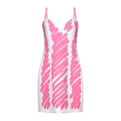 モスキーノ MOSCHINO ミニワンピース&ドレス ピンク 42 ポリエステル 89% / ポリウレタン 11% ミニワンピース&ドレス