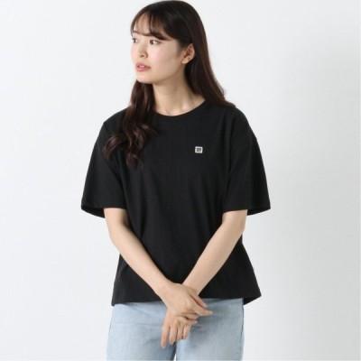 天竺ワッペンドロップTシャツ ブラック M L
