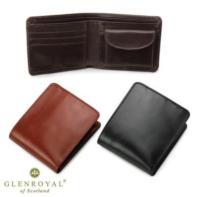グレンロイヤル GLENROYAL 03-6171 フルブライドルレザー 二つ折り財布 | おしゃれ ブランド ミニ財布 メンズ ミニ