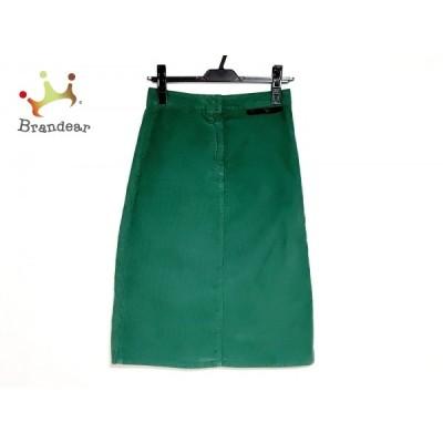 ステラマッカートニー スカート サイズ26 S レディース 美品 - グリーン ひざ丈/コーデュロイ 新着 20200801