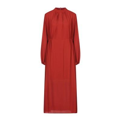SOALLURE ロングワンピース&ドレス レンガ 44 ポリエステル 100% ロングワンピース&ドレス