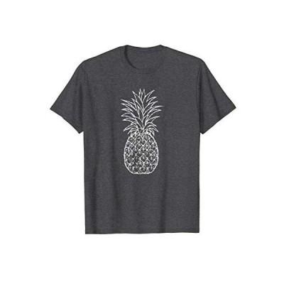Tシャツ 男性向 ホワイトパイナップルプリントパイナップル恋人Tシャツ