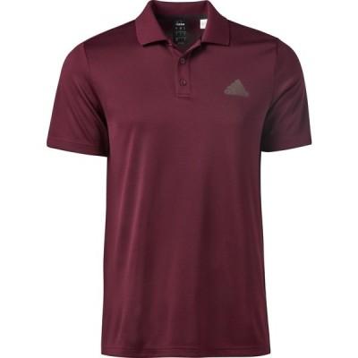 アディダス シャツ トップス メンズ adidas Men's Designed2Move Polo Shirt Maroon/White
