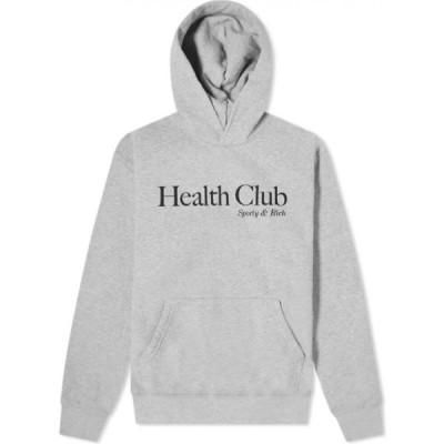 スポーティ アンド リッチ Sporty & Rich メンズ パーカー トップス Health Club Hoody Heather Grey/Black
