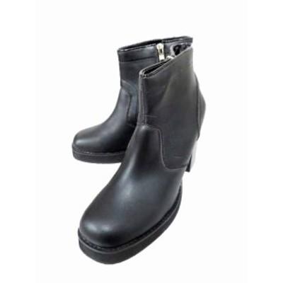 【中古】ankoROCK アンコロック スムースレザー ヒールブーツ サイドジップ ショートブーツ M 25.5cm 210116 020