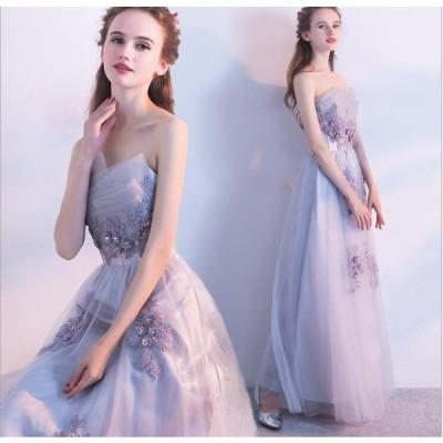 パーティードレス 結婚式ドレス ウエディングドレス ロングドレス オフショルダー レース 大人 上品 可愛い お呼ばれ 花嫁 披露宴 卒業式 成人式