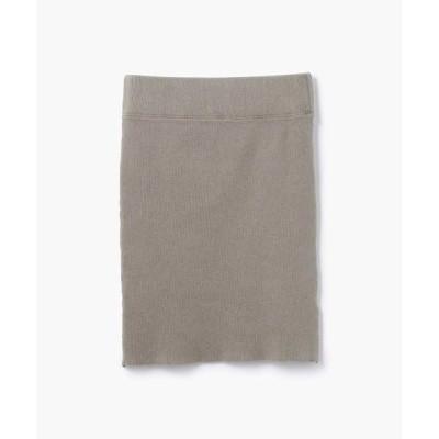 TOMORROWLAND/トゥモローランド リブストレッチ ミニタイトスカート WLRK5927 44 ベージュ 0(S)