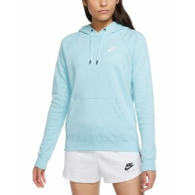 ナイキ レディース パーカー・スウェット アウター Women's Sportswear Essential Fleece Hoodie Glacier Ice/htr/white