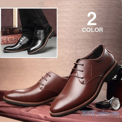 ビジネスシューズ プレーントゥ メンズ 革靴 フォーマルシューズ 歩きやすい 紳士靴 PU革靴 通勤 2019 新作